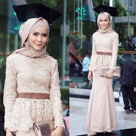 30  model kebaya wisuda hijab modern cantik favorit mahasiswi