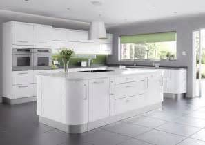 White Gloss Kitchen Designs by Modern White Gloss Kitchens Images