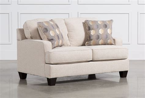 linen loveseat brielyn linen loveseat living spaces