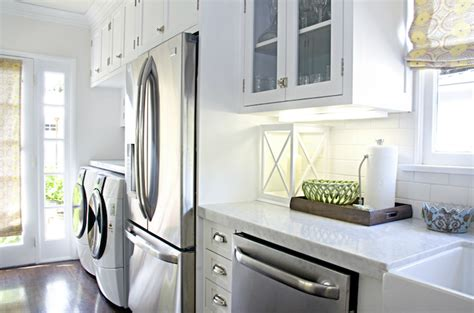 washer and dryer in kitchen design decor photos