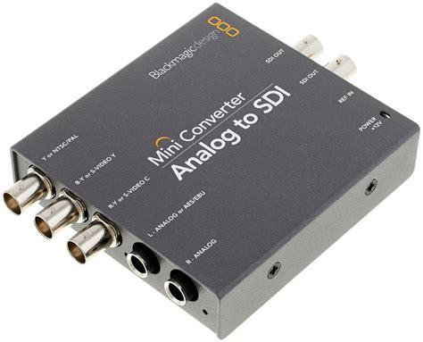 blackmagic format converter blackmagic design mini converter analog sdi 2 thomann uk