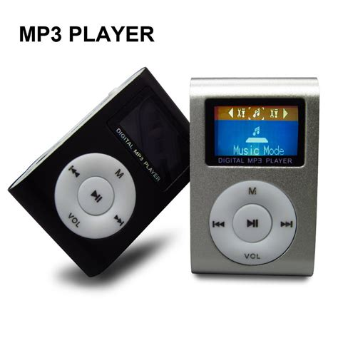 Mp3 Player Jepit By Mey Store new portable mp3 player lcd screen mini clip