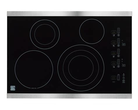 Kenmore Elite Cooktop kenmore elite 44273 30 quot electric cooktop stainless steel sears outlet