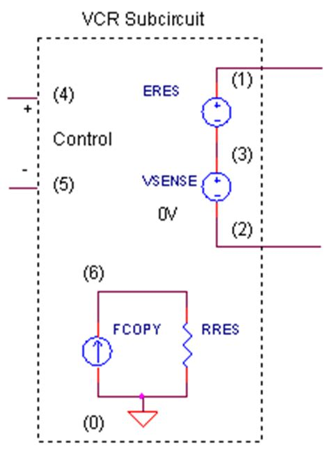 how to test a voltage dependent resistor voltage controlled resistor pspice 28 images symbol voltage controlled current source is