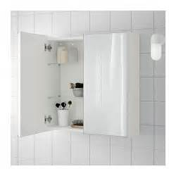 Ikea Bathroom Mirrors Ideas by Lill 197 Ngen Mirror Cabinet With 2 Doors White 60x21x64 Cm Ikea