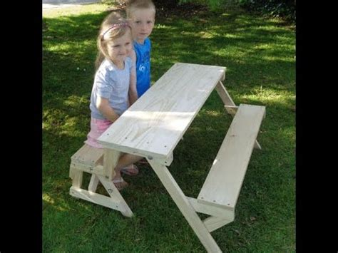 how to make a kids bench kids 2 in 1 folding picnic table and bench seat youtube