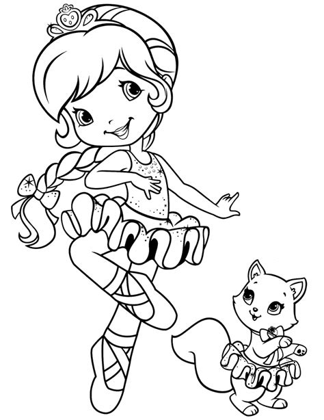 get this girls coloring pages of strawberry shortcake