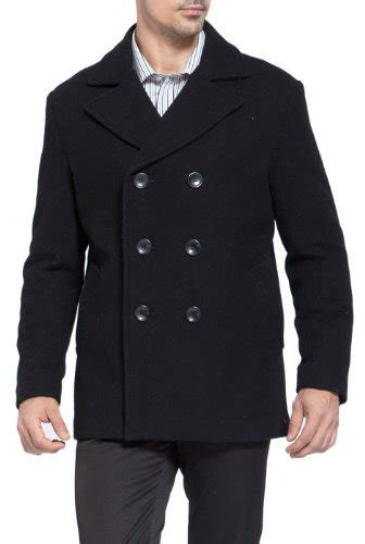 Coat Abu Dhabi bgsd s classic wool blend pea coat black s in