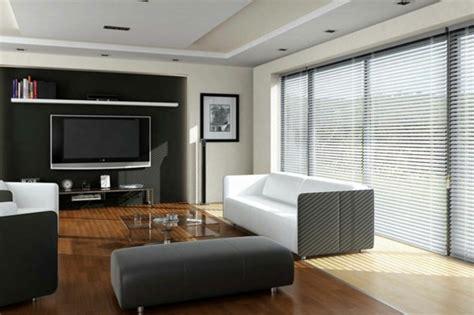 jalousie wohnzimmer elegante jalousien im wohnzimmer tolle schwarze akzentwand