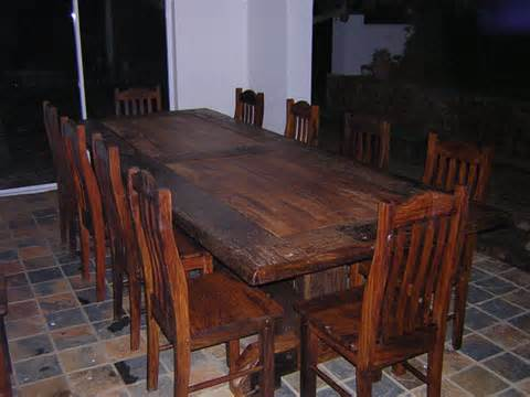 Railway Sleeper Dining Table Diningtable Matchingsleeperwoodchairs Big Gogreen Furniture Indonesia
