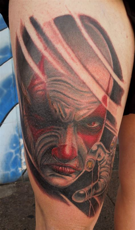 scary clown tattoos 26 cool joker tattoos desiznworld