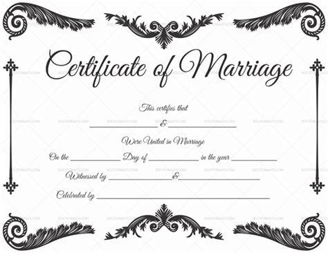 Marriage Certificate Template 22 Editable For Word Pdf Format Certificate Template Pdf