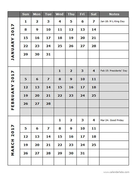 quarterly calendar template 2017 quarterly calendar template 14p free printable