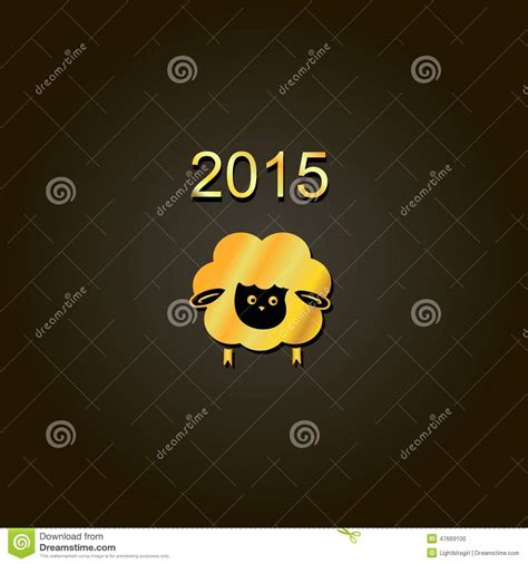 new year sheep symbols new year golden design symbol of 2015 sheep stock