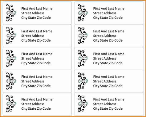3 Free Address Label Templates Divorce Document Free Address Templates For Word