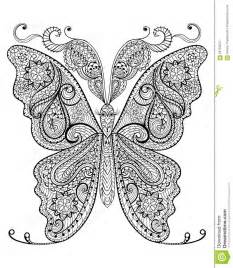 hand drawn magic butterfly anti stress coloring stock vector image 58750557