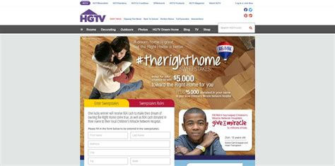 Hgtv Com Sweepstakes Entry Form - hgtv remax therighthome sweepstakes at hgtv com therighthome 5 000 toward the