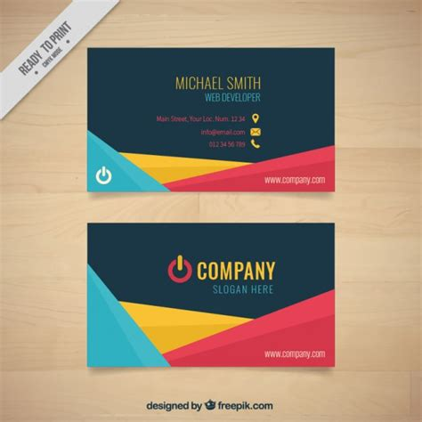 card company abstract shapes company card with symbol vector