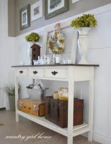 entry table ideas country girl home added onto my diy entry table