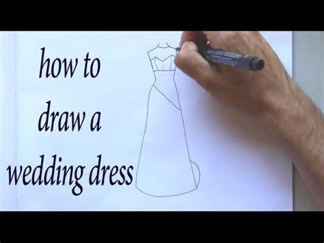 draw  wedding dress design youtube