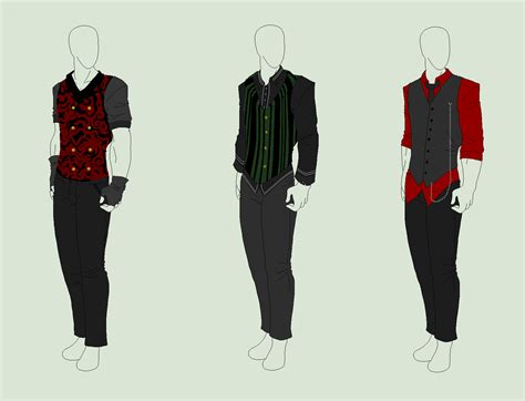 anime boy outfit ideas outfit adopts 3 pack gentleman waistcoats sold by