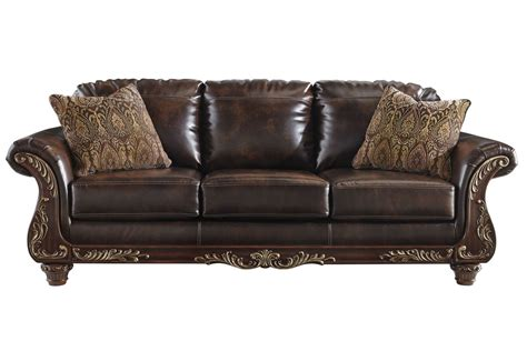 Leather Bonded Sofa Vance Bonded Leather Sofa At Gardner White