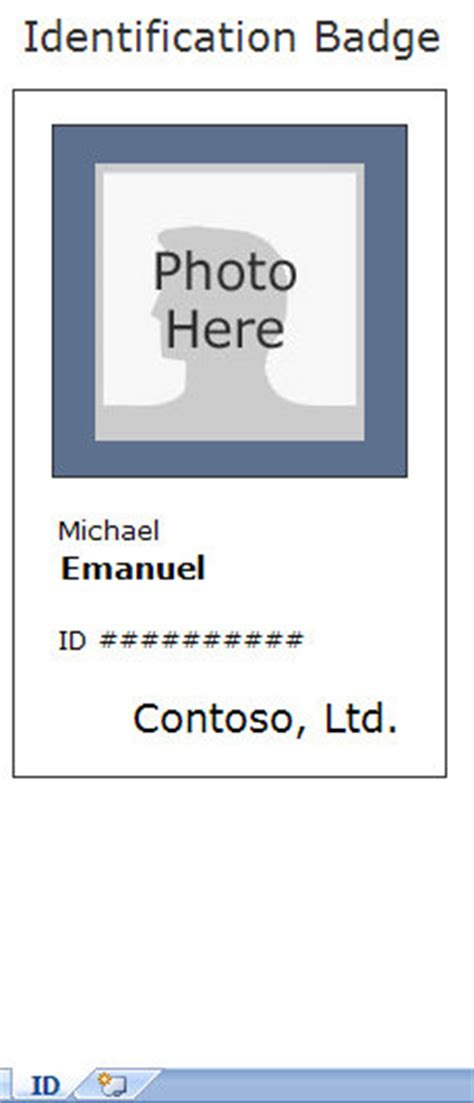 employee card template