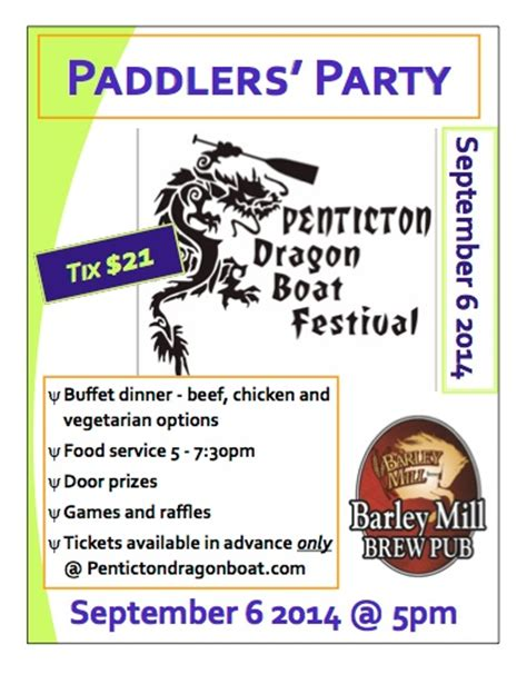 penticton dragon boat festival 2017 results paddler s party tickets on sale penticton dragon boat