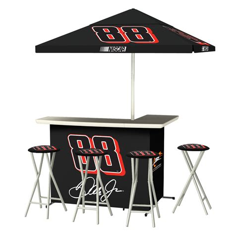 dale jr 88 portable tailgate tiki bar bar stool set