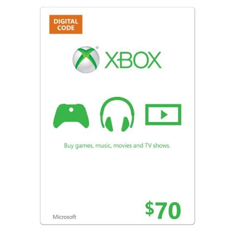 Xbox Gift Card Digital Download - 70 xbox gift card digital code