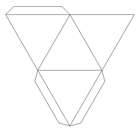 paper pyramid template best photos of pyramid box pattern paper pyramid gift