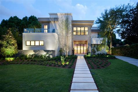 modern home design houston modern home with water feature and floating step entryway