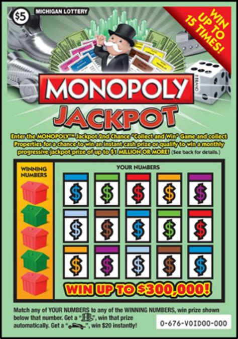 Monopoly 2nd Chance Sweepstakes - michigan lottery introduces two instant games with second chance interactive games