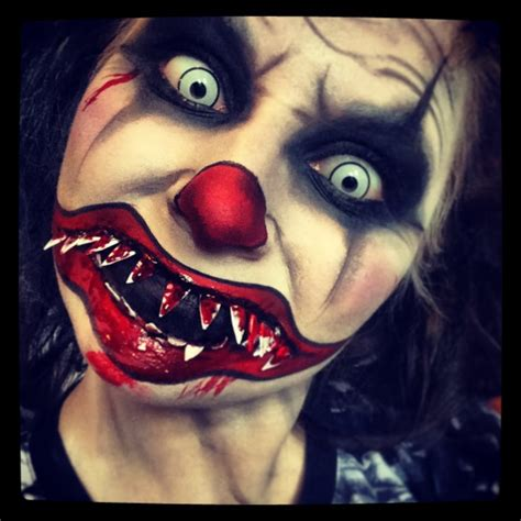zombie clown makeup tutorial evil clown makeup tutorial female horror pinterest