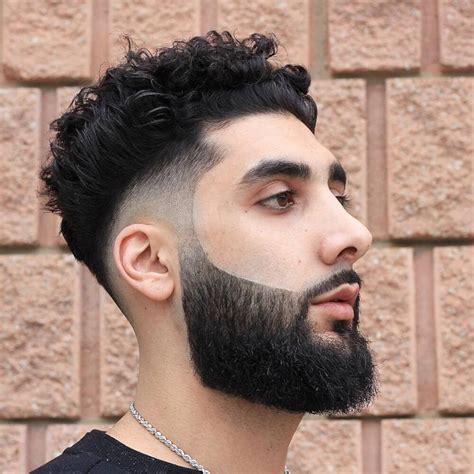 hairstyles for thin wiry curly hair men mens curly hair with beard life style by modernstork com