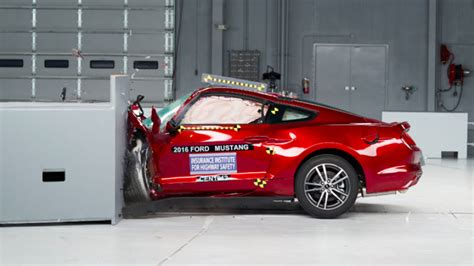 news ford mustang misses  crash test high score