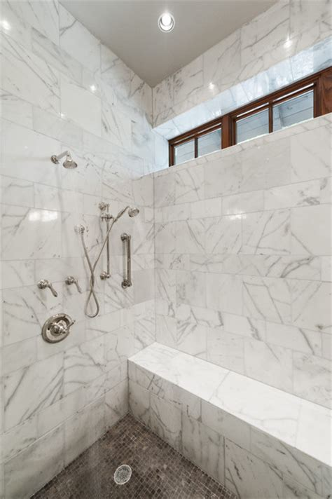 Marble Showers Bathroom Marble Shower Modern Bathroom By Schroeder