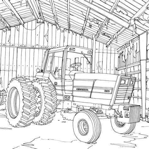 coloring pages farmall tractors art of the tractor coloring book octane press