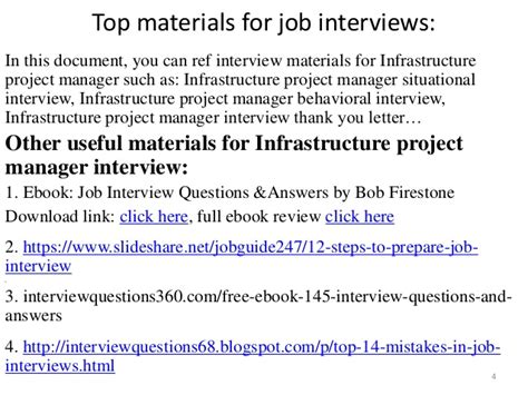 Infrastructure Project Manager by 52 Infrastructure Project Manager Questions And Answers Pdf