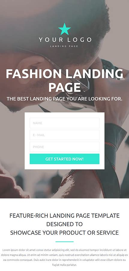 Fashion Landing Page Template Website Templates Dreamweaver Landing Page Template