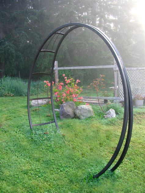 Garden Arch Circle Buzzard Studios Moonbeam Garden Arch Artworks In Steel