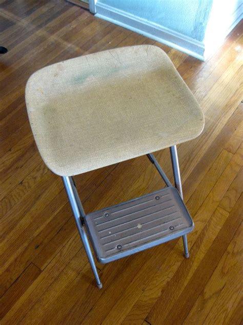mid century folding step stool chair samsonite metal