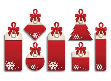 different christmas sale tags elements vector 02 over