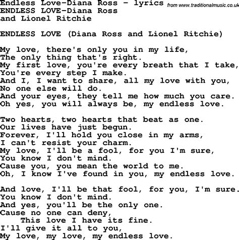 Lionel Richie Home Collection love song lyrics for endless love diana ross
