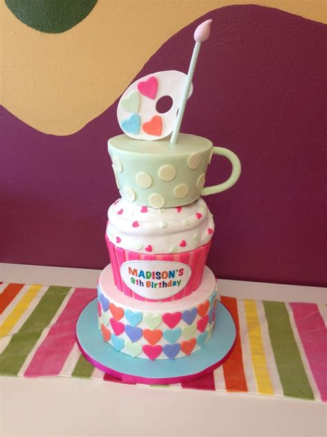 color me mine birthday color me mine birthday cake cupcake hearts tea cup paint