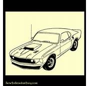 How To Draw Fantasy A Mustang Boss Muscle Car