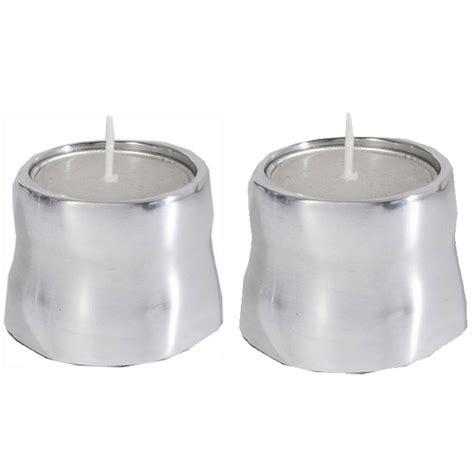Tealite Tea Light Candle Cup Alumumium yair emanuel anodized aluminum tea light candle holder ebay