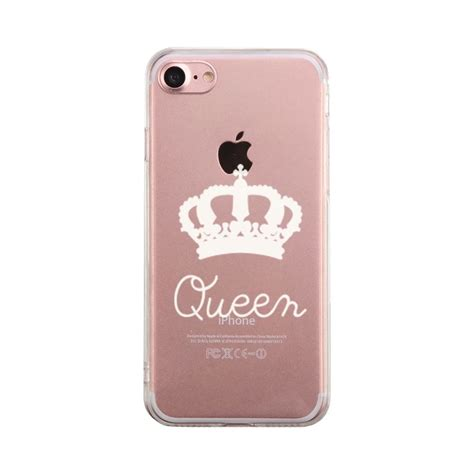 queen couple matching phone case cute clear phonecase ebay