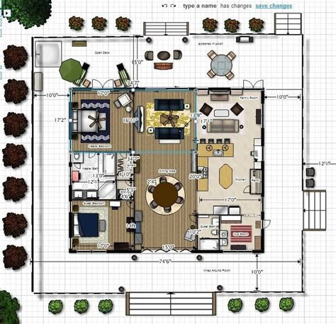 modern dogtrot home floor plan