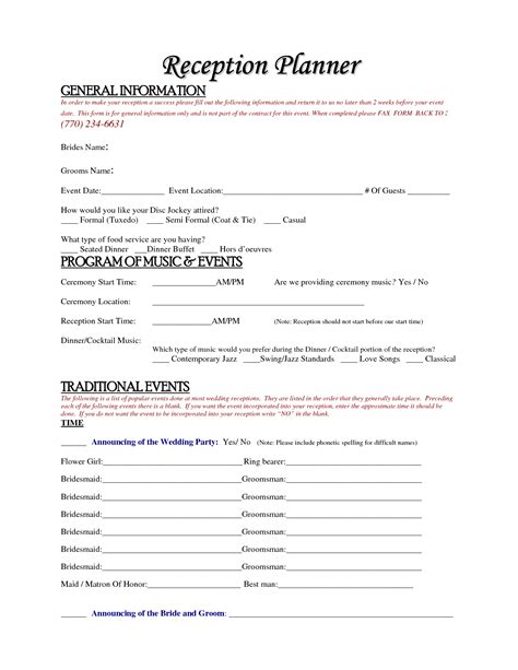 Wedding Planner Contract by Free Wedding Planner Contract Template Accessoires Pour